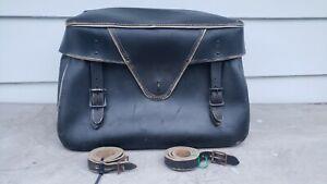 vintage snowmobile ski-doo leather saddle bag