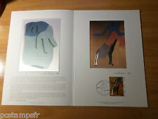 FRANCE 1986,  Document CERES 1° jour timbre 2447, TABLEAU JEAN ARP, FDC PAINTING