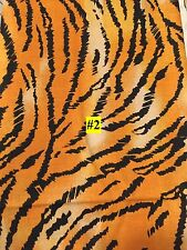 WILD ANIMAL Tiger type PRINT 100% COTTON FABRIC by the yard #2