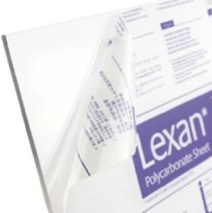 """Lexan Makrolon Tuffak Polycarbonate Sheet Clear 1/8"""" x 24"""" x 48"""" - Thermoforming"""