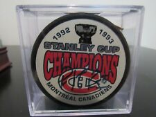Patrick Roy Montreal Canadiens Signed 1993 Stanley Cup Champions Puck (AJ Sports