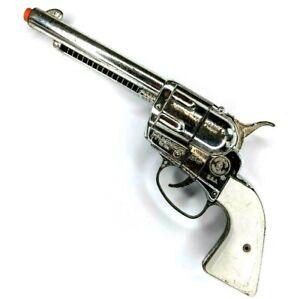 Mattel Fanner 50 Toy Cap Gun Pistol Vintage Silver FOR PARTS or REPAIR