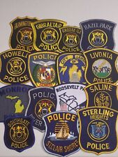 Vintage police patch lot Michigan collection sterling lansing howell MI 15 Piece