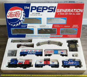K-Line The PEPSI Generation COMPLETE TRAIN SET BOX SEALED 0-27 Gauge 5 Units