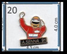 AYRTON SENNA Mclaren F1 1991 World Champion METAL ENAMEL LAPEL PIN BADGE