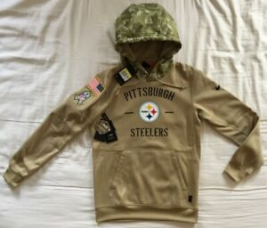 Nike On Field Pittsburgh Steelers Salute to Service Therma Hoodie - Men's Small