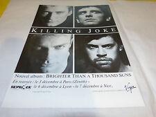 KILLING JOKE - Publicité de magazine / Advert BRIGHTER THAN A THOUSAND SUNS !!!!