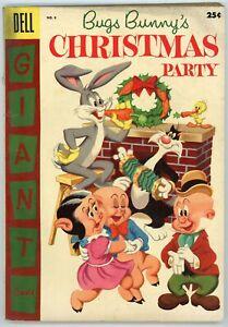 Bugs Bunny's Christmas Party 6 GIANT 1955 VG Bugs Bunny Porky Pig