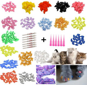 JOYJULY 100pcs Cat Nail Caps Pet Cat Claw Kitty Caps Control Soft Paws of 5 Nail