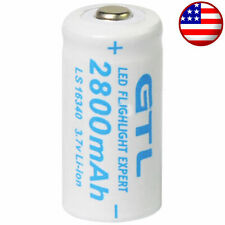 3.7V Rechargeable Batteries ; CR123A , 123A ,  CR123 , 16340 , CR17345