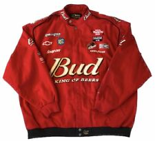 CHASE AUTHENTICS Drivers Line Nascar BUDWEISER Jacket Size 4XL XXXXL
