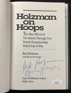 Red Holzman Signed Book Holzman On Hoops HCB Basketball NY Knicks HOF Auto JSA