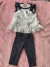 Rare Editions baby girl 3-6 Months 2-piece Outfit Polka Dot