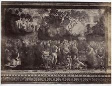 VINTAGE UNMOUNTED ALBUMEN STORIED RELIGIOUS PAINTING, ROME, ITALY.