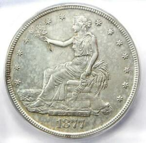 1877-S Trade Silver Dollar T$1 Coin - Certified ICG AU58 Details - Rare Coin!