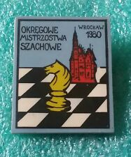 POLISH CHESS CHAMPIONSHIPS DISTRICT WROCŁAW  1980 POLAND - OLD PIN BADGE