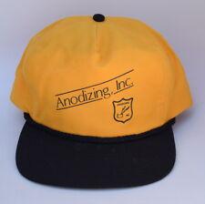 Anodizing Inc. One Size Fits All Snapback Baseball Cap Hat Yellow & Black