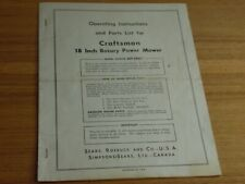 Craftsman 18 inch rotary power mower operating instructions parts 809.88021
