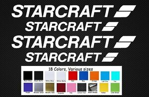 """Starcraft Boat Decal Set Stickers 12""""/9"""" Fishing Baitcaster Swim Bait Outboard"""