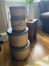 Vintage 50s/60s Saks Fifth Avenue Hat Boxes Set of 4! Stacking / Nesting