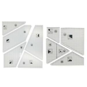 Crazy Quilt 5 Stencil Kit Sewing Template Ruler Crazy Templates Quilt Ruler Set
