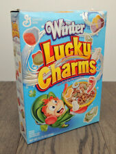 Vintage Winter Lucky Charms Cereal Marshmallows 11.75 Oz Full Box Factory Sealed