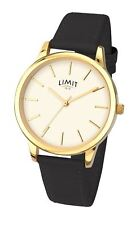 Limit Ladies Classic Dial Watch Black Stitched Strap 6237