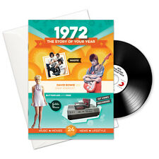 1972 45th Birthday Anniversary Gift 4-In-1 Retro Greetings Card Book Britpop CD
