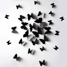 Hot Sale 12 Pcs 3D Wall Stickers Butterfly Fridge Magnet for Home Decoration New