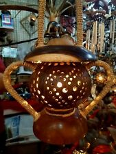 Handmade Wooden Crafts Coconut Shell Lantern  for Home Decorate