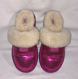 UGG Slippers Pink Sliders Size 4 (EU37) *EXCELLENT CONDITON*
