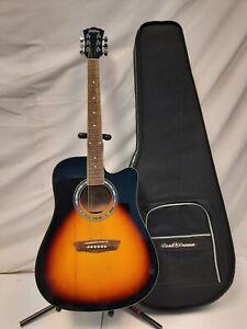 Washburn WA90CE VSB Dreadnought Acoustic Electric Guitar Vintage Sunburst