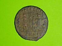 Constantine II 316 AD ancient Roman Coin soldiers military tools Very Good old