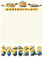 Minions Stationery Printer Paper 26 Sheets
