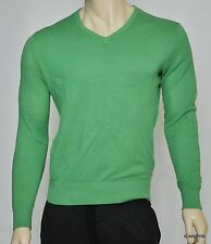Nwt $145 Ralph Lauren POLO Cotton/Cashmere V-Neck Sweater Pullover Top ~Green *S