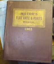 1963 Motor's Flat Rate Parts and Manual
