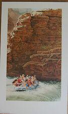 Scott Kennedy On The Edge Limited Ed Fine Art Print White Water Rafting Bighorns