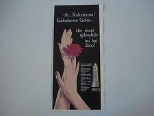 advertising Pubblicità 1961 CREMA KALODERMA GELEE
