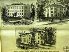 KENTUCKY CENTRAL UNIVERSITY HOSPITAL COLLEGE MED. 1885 Print Matted