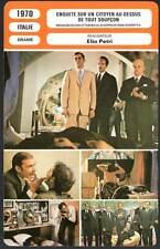 ENQUETE SUR UN CITOYEN AU-DESSUS DE TOUT SOUPCON - Volonté (Fiche Cinéma) 1970