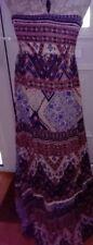 Strapless Bandeau Maxi Dress Lagenlook Hippy Boho Festival Holidays