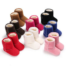 Newborn to 18 M Baby Boy Girl Crib Shoes Winter Snow Warm Booties Faux Fur Boots