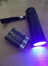 UV Ultra Violet torcia Luce Lampada Torcia Elettrica-GRATIS BATTERIE