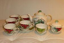 Poole Pottery Seed Packets Tea Set England - 11 Pieces