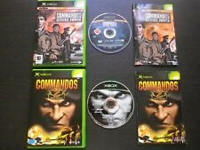 COMMANDOS Strike Force + Men of courage : LOT 2 JEUX Microsoft XBOX (complet)