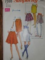 7595 Vintage Simplicity Sewing Pattern Misses Set of Skirts in Two Lengths