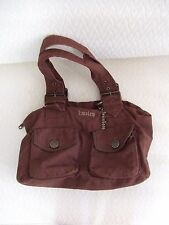 Nwot Hurley Cocoa Brown Canvas Book Shoulder Bag with Pockets & Keychain Pac Sun