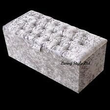 Spanish Ottoman in Crush Velvet Fabric ideal Storage and Seating Solution !!!