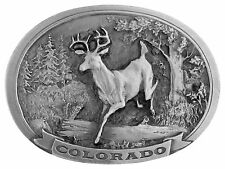COLORADO STATE WILDLIFE DEER BUCK DENVER ROCKY MOUNTAINS BELT BUCKLE C&J 1450