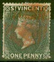 St Vincent 1871 1d Black SG15 Fine Used